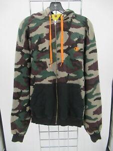 I9334 VTG Champion Men's Full Zip Camouflage Sports Hoodie Size L