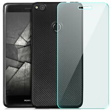 Coque Gel Huawei P8 Lite (2017) Housse Anti-choc Carbon-Look Case + Vitre Verre