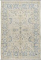 4x6 Antique Look Turkish Muted Oriental Floral Area Rug Hand-Knotted Wool Carpet