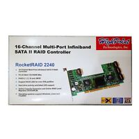 HighPoint RocketRaid 2240 16-Channel Multi-Port Infiniband Raid Controller