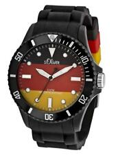 S.Oliver World Cup Watch Germany so-2464-pq Analogue Silicon Black