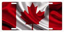 CANADA Flag Custom License Plate Canadian Emblem Wave Version # 1