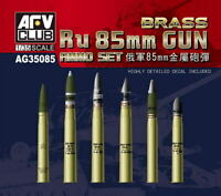 AFV Club 1/35 Russian 85mm Gun Brass Ammo AG35085
