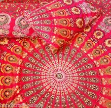 Red Mandala Floor Pillow Case Cushion Cover Indian Bohemian Pillow Sham Throw