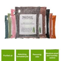 8 Colors 200g Air Purify Bag Fresh Activated Charcoal Bamboo Purifier Mold Odor