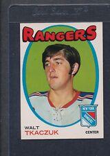 1971/72 OPC O-Pee-Chee #075 Walt Tkaczuk Rangers EX/MT *99