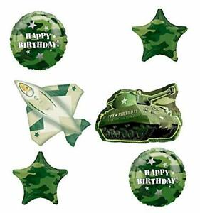 Army Tank and Jet Fighter Camouflage Party Supplies Birthday Balloon Bouquet