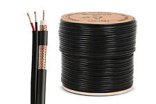 Nordstrand Pro 100m Siamese RG59 2-core Power Cable CCTV Satellite 0.81mm CCS
