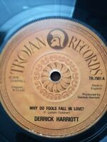 "Derrick Harriott-Why Do Fools Fall In Love 7"" Vinyl Single 1976"