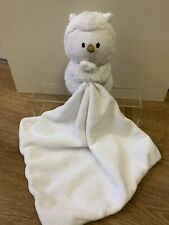 Mothercare White Owl Comforter Blanket Blankie Soft Toy Soother Bird Baby