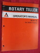 1977 ALLIS CHALMERS 66 ROTARY TILLER FOR 5020 TRACTOR OPERATOR'S MANUAL