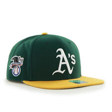 Oakland Athletics A's - '47 Brand MLB Snapback Hat Cap - Flat Brim - Sure Shot