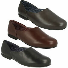 HARSTON LOUNGE MENS CLARKS LEATHER SLIP ON WARM INDOOR HOUSE SLIPPERS SHOES