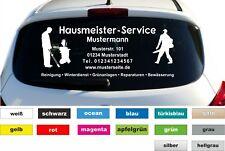 Hausmeister Service Werbung Autobeschriftung Aufkleber Heckscheibe KFZ B:  60cm