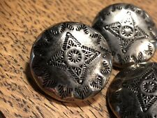 Southwestern Stamped Concho Domed Shank Button Set (8)