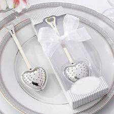 Heart Design Spoon Tea Infuser Filter Souvenir Bridal Shower Favor Gift Glitzy