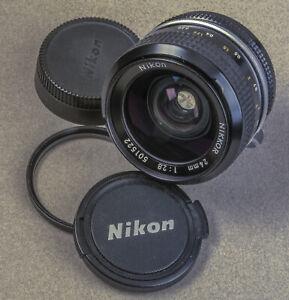 Nice Nikon 24mm f/2.8 manual lens-Free shipping