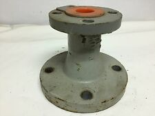 "Flanged Concentric Reducer  3"" x 1.5"", DI, Resistoflex PP Teflon Lined, 150#"