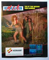 Konami Missing In Action Arcade FLYER Original Video Game Artwork Sheet 1989 MIA