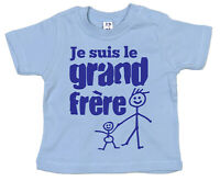 """French Brother T-shirt """"Je Suis le Grand Frere"""" I'm Big Brother France Gift"""