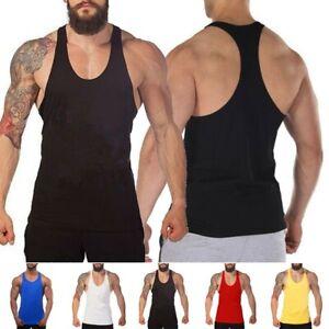 Hommes Débardeur sans Manche Musculation Sport Gilet Muscle T Shirt