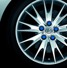 BLUE  20pcs wheel nut bolt covers caps Gel  silicon caps