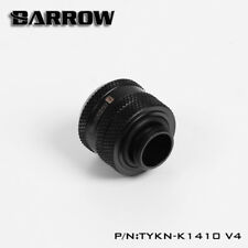 "Barrow 14mm G1/4"" Matte Black Triple Seal Compression Fitting For Rigid Tubing"