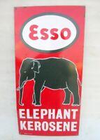 Esso Elephant Kerosene Porcelain Enamel Sign Board Vintage Old Collectible Sign