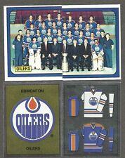 1988-89 Panini Edmonton Oilers Team Set of 16, Gretzky, Messier, Kurri, Fuhr...