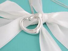 Tiffany & Co Silver Peretti Medium Open Heart Diamond Necklace Packaging