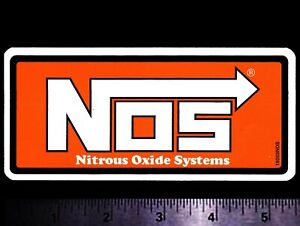 NOS Nitrous Oxide Systems - Original Vintage 1980's Racing Decal/Sticker