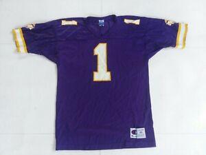 Vtg Warren Moon Champion Minnesota Vikings Jersey Size 44 #1