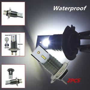 2X Waterproof 15000lm White H7 Led Bulb Set Canbus Car Headlight Fog Lights Lamp