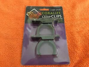 """Coralife T-12 Fluorescent Water Resistant Lamp Clips Heavy Duty 1.5"""""""