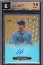 2013 FINEST ORANGE REFRACTOR AUTOGRAPHS #08/99 - WIL MYERS RC - BGS 9.5/10 AUTO