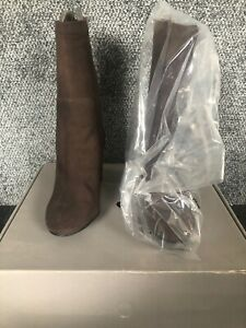 H&m Brown Real Suede Boots Uk Size 4.5