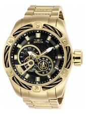 Invicta 52mm Bolt Predator Automatic Open Heart Watch Goldtone/Gunmetal 26775
