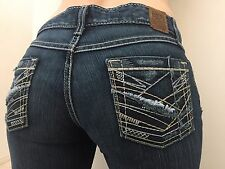 BKE ~ SABRINA BOOT STRETCH ~ Womens Size 28 x 33.5 Thick Stitch Jeans Pants