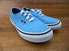 Vans auténticas azul lona clásico Plimsolls Entrenadores Size UK 2 EUR 33