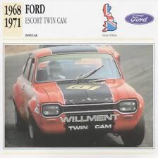1968-1971 FORD ESCORT TWIN CAM Classic Car Photograph / Information Maxi Card