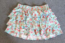 GORGEOUS HOLLISTER FLORAL PRINT RUFFLED TIERED SKIRT.  SIZE SMALL
