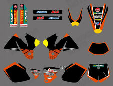 Graphics Backgrounds Decals for KTM EXC 125 200 250 300 380 400 1998 99 2000