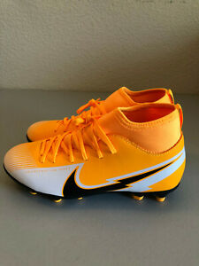 Nike Youth Jr Superfly Mercurial Size 5 Orange Cleats New-No Box