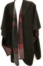 One Size Fits All TS TAKING SHAPE Blackwine Wrap Shawl soft  Warm Reversible NWT