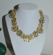 """NWT $248 Kate Spade """"Clear As Crystal"""" Short Floral Statement Necklace"""