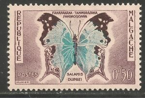 Malagasy Republic #308 (A32) VF MINT LH - 1960 50c Salanis Duprei Butterfly