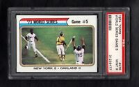 1974 TOPPS #476 WS GAME 5 PSA 9 MINT CENTERED!