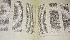 13th 14th century Manuscript Prophets RARE facsimile codex Vatican bible Hebrew