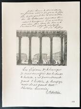 1926 - Lithographie Baron E. de Gaiffler d'Hestroy, de Cartier de Marchienne