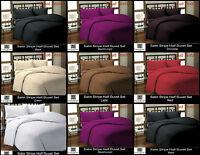 Luxury And Stylish 100% Egyptian Satin Stripe Duvet Set & Pillow Cover Bedding
